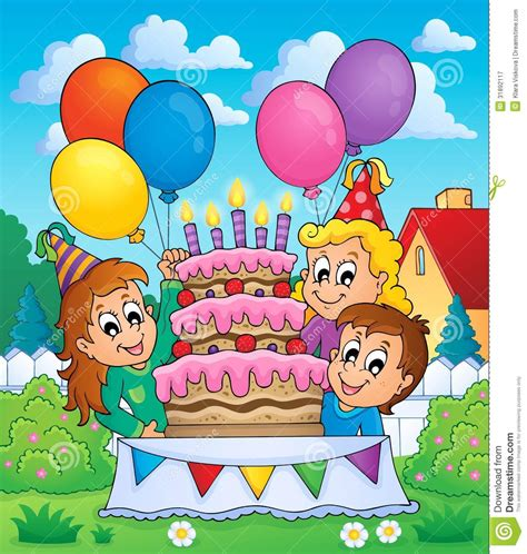 party themes cartoon characters kids party theme image 5 royalty free stock photography