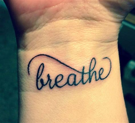 54 just breathe tattoos design on wrist