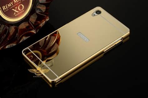 Sony Xperia Z4 Mirror Metal Bumper Back Cover luxury aluminum mirror bumper for sony xperia m4 aqua frame pc back cover metal coque funda for