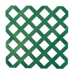 Green Plastic Trellis veranda 0 16 in x 48 in x 8 ft forest green plastic