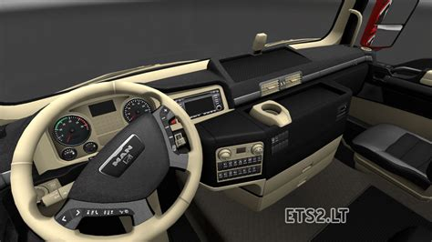 Best Combination Of Colors by Man Black Beige Interior Ets 2 Mods