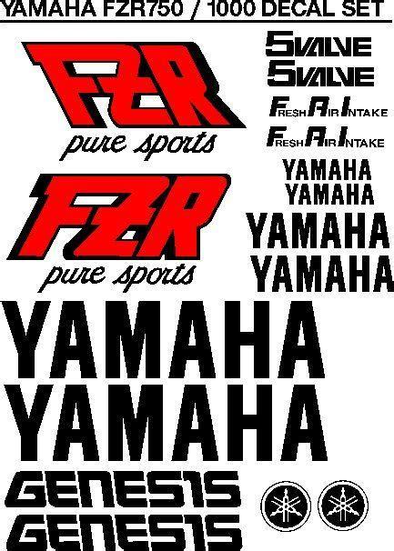 Aufkleber Yamaha Fzr 600 by Yamaha Fzr 1000 Sports Genesis Stickers Decals