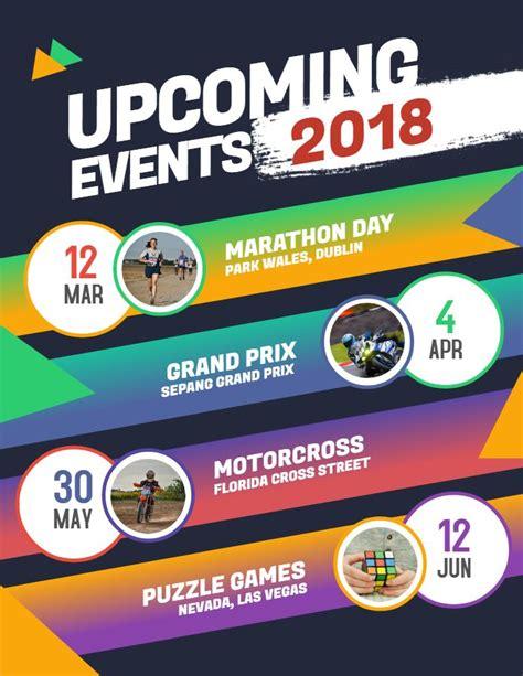 modern upcoming event calendar flyerposter template
