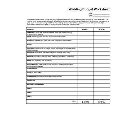 Wedding Budget Template Pdf by 14 Wedding Budget Templates Free Pdf Doc Xls Format