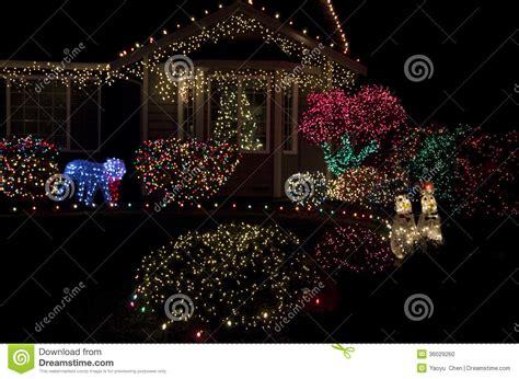 Beautiful Home House Christmas Lights Lighting Stock Photo Beautiful Lights