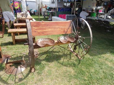 metal wagon wheel bench tractor seat bench decorating ideas patios outdoor