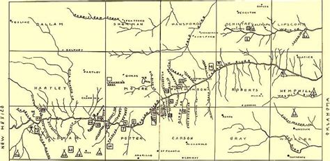 map of the texas panhandle villagers gt research history gt panhandle pueblo culture