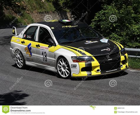 car mitsubishi evo mitsubishi evo 9 rc rally car editorial stock photo