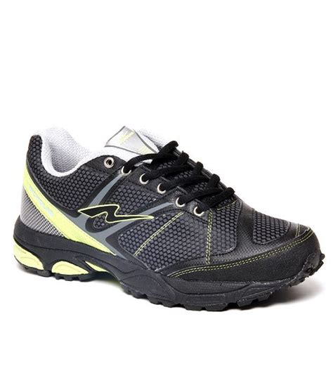 nicholas durable black and gray sports shoes price in