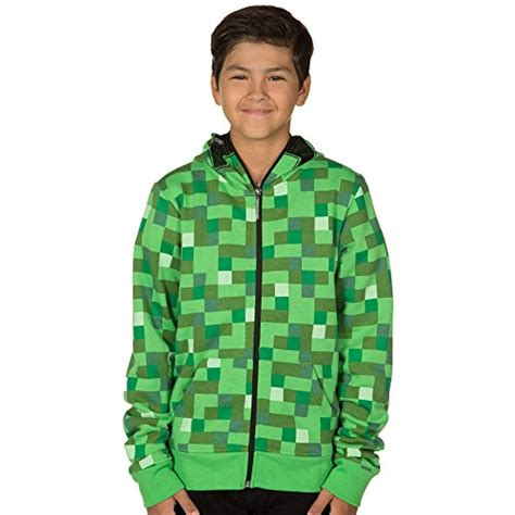 Vest Zipper Vest Rompi Minecraft Creeper minecraft creeper premium zip up youth hoodie green medium buy in uae apparel