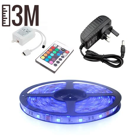 3m Led Light Strips 3m Rgb Led Strip Light Kit 30 Led 7 2w