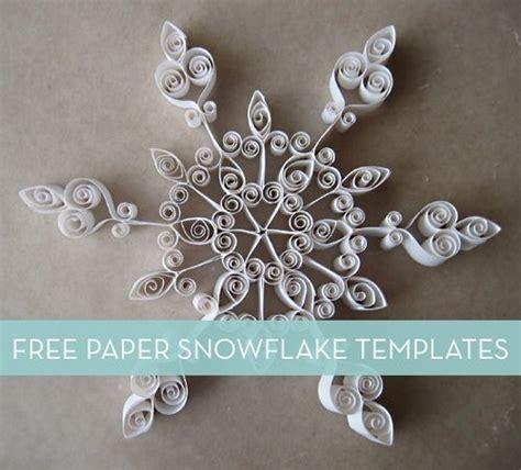 paper snowflake templates paper snowflake template