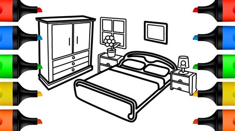 bedroom drawing for kids how to draw bedroom coloring pages for kids learn colors