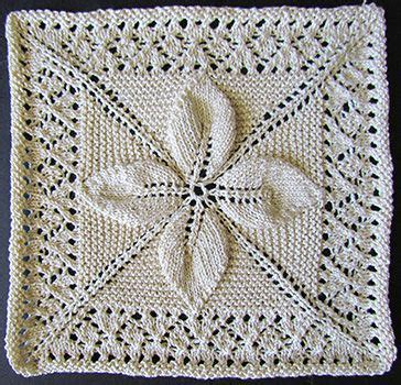 leaf pattern knitted squares leaf and lace counterpane square knit from a victorian era