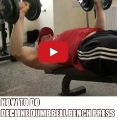 how to do a dumbbell bench press how to do decline dumbbell bench press for a big chest musclehack