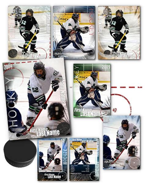 hockey card template photoshop free hockey signature arc4studio