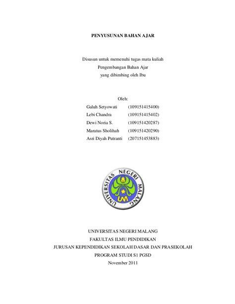 Format Makalah Um | penyusunan bahan ajar kelompok 9