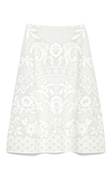knit matelasse a line skirt by valentino white is chic