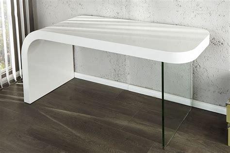 bureau blanc design bureau design blanc laque et verre timmen