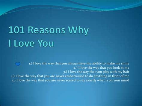 Why I by 101 Reasons