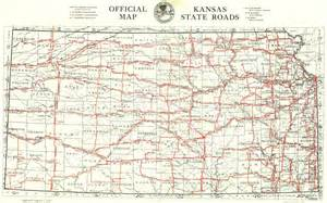 State Map Of Kansas by U S Route 40 The Golden Belt