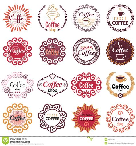 coffee shop design elements coffee shop vector design elements in vintage style stock