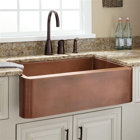 25 quot raina copper farmhouse sink kitchen