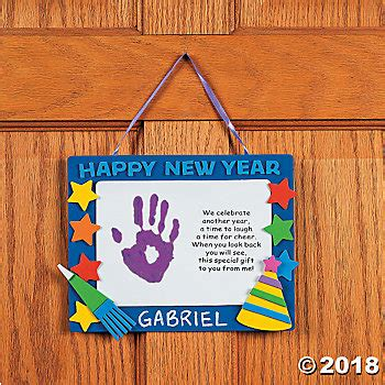 new year craft ideas for babies handprint happy new year keepsake craft kit