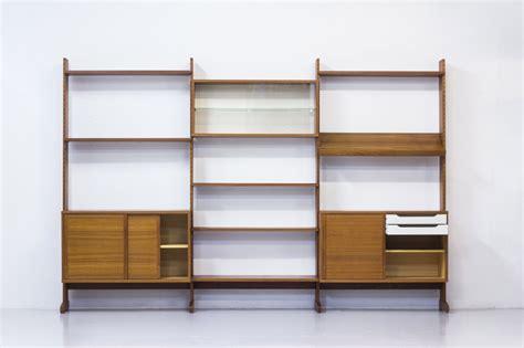 sectioned teak bookshelf from string ab 1968 for