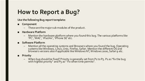 Report Bug Developers by How To Report Bugs