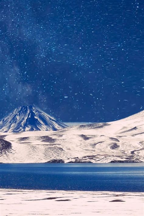 milky   snowy mountains hd wallpaper