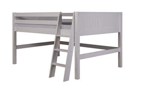 full low loft bed camaflexi full low loft bed panel headboard white