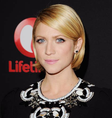 top behind the ears bob hairstyles brittany snow wore her bob neatly tucked behind her ears