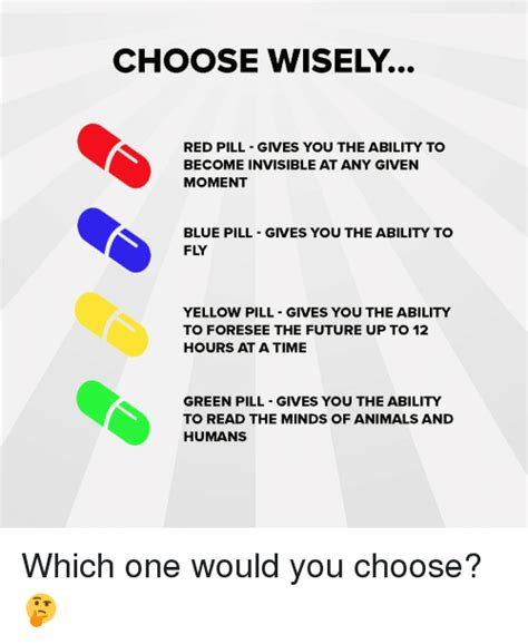 Which Would You Chosen by 25 Best Memes About Blue Pill Blue Pill Memes