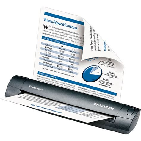 Speaker Visioner visioneer strobe xp 300 portable sheetfeed scanner sxp3005d wu