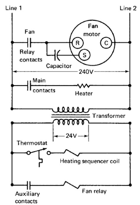 electric heating system basic operation  diagram   mechanical engineering