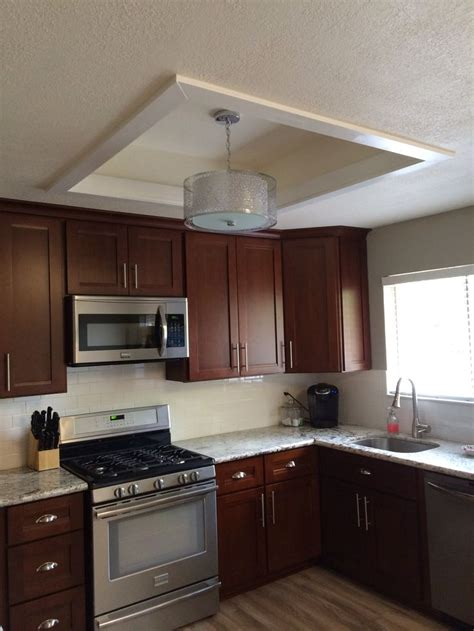 Fluorescent Ceiling Light Fixtures Kitchen Fluorescent Kitchen Light Box Makeover Remodeling On A Budget Drums Boxes And