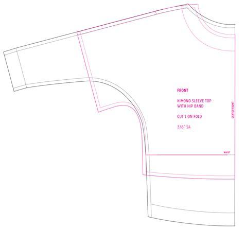 pattern drafting dolman sleeve lounge set in brushstrokes cloth habit