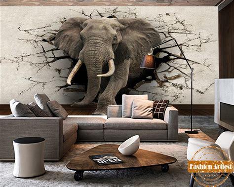 custom 3d elephant wall mural personalized giant photo popular elephant murals buy cheap elephant murals lots