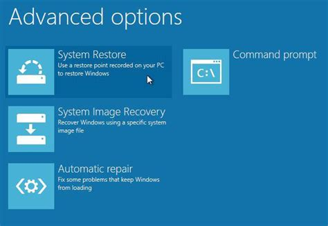 how to do system restore in windows 8 from boot without