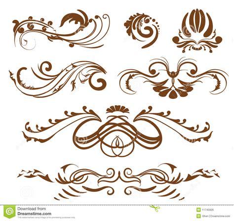 design elements ornamental design elements stock vector image of branch