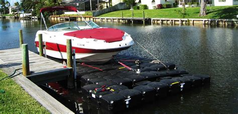 inflatable pontoon boat lift floating boat lift 30 performance air assisted dock