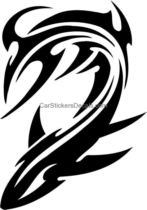 tribal water monster sticker 10 amp decal car stickers decals