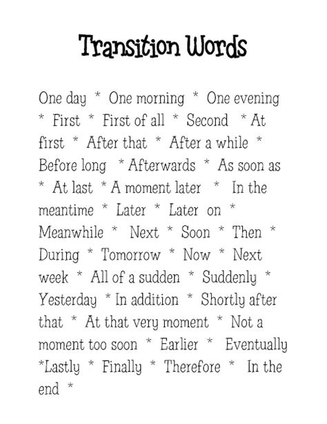 Pdf Am Word Guide Consciousness Transitioning by List Of Transition Words For 4th Grade Writing
