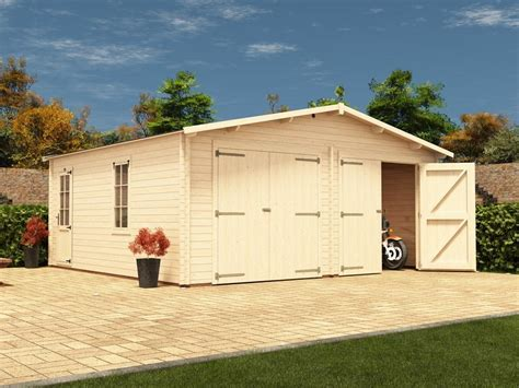 Deore Double Wooden Garage W5.9m x D5.5m   Garages