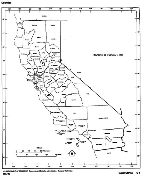 maps of counties in california california free map