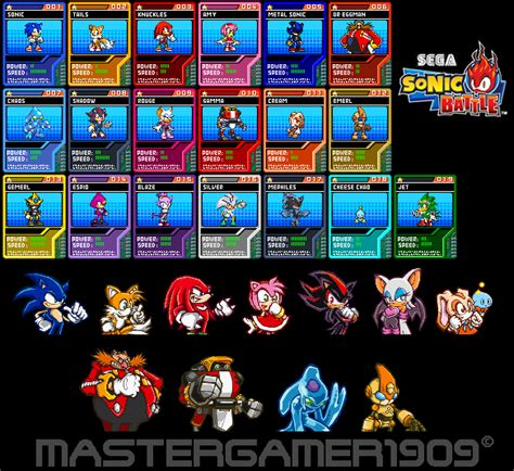 Where Can I Buy A Sonic Gift Card - sonic battle cards by mastergamer1909 on deviantart