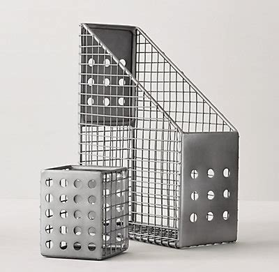 Pewter Desk Accessories Perforated Metal Desk Accessories Pewter