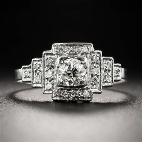 platinum deco 40 carat center engagement ring