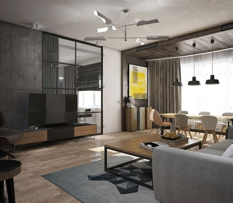 Awesome New York Style Apartment Interior Design With Open